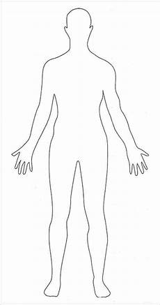 Human Outline Human Body Outlines Word Excel Samples