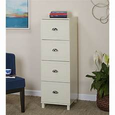 bradley 4 drawer vertical wood filing cabinet white