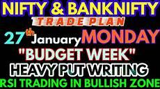 Nifty Option Premium Chart Bank Nifty Amp Nifty Tomorrow 27th January 2020 Daily Chart