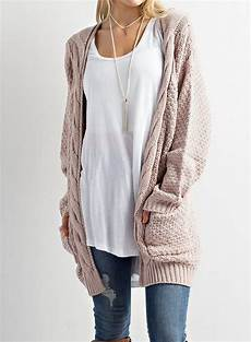 fashion sleeve solid open front knit cardigan