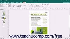 How To Find A Publisher Publisher 2016 Tutorial The Page Layout View Buttons