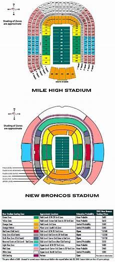 Denver Broncos Club Level Seating Chart Denverpost Com Stadium Coverage