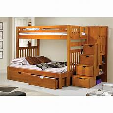 donco stairway loft bunk bed with storage drawers
