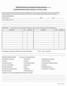 Comprehensive Health History Form 67 Medical History Forms Word Pdf Printable Templates
