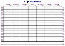 Schedule Book Template 5 Free Appointment Schedule Templates In Ms Word And Ms Excel