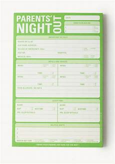 Babysitter Sign Up Parents Night Out Notepad Great Gift Ideas Pinterest