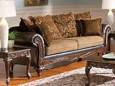 farleigh traditional brown sofa loveseat w