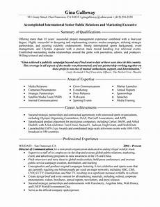 Pr Resume Objective Public Relations Executive Resume Examples Sample