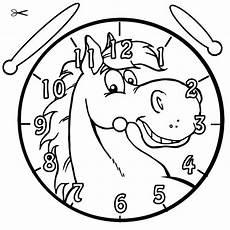 Malvorlagen Uhr Pferd Kostenlose Malvorlage Uhrzeit Lernen Ausmalbild Pferd Zum