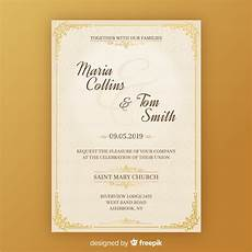 Invitation Cards Templates Free Download Wedding Invitation Card Template Free Vector
