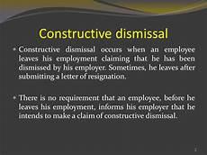 Constructive Discharge Letter Constructive Dismissal Levins Solicitors