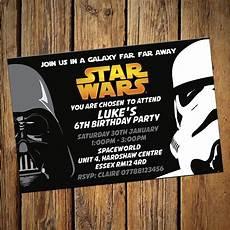Star Wars Birthday Party Invitations Details About Personalised Star Wars Invitations Party
