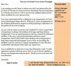 nursery nurse cover letters nursery assistant cover letter example learnist org