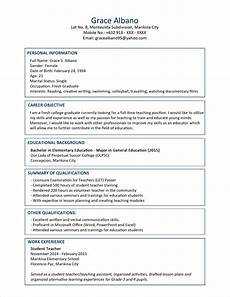 Graduate Resume Examples Sample Resume Format For Fresh Graduates Two Page Format