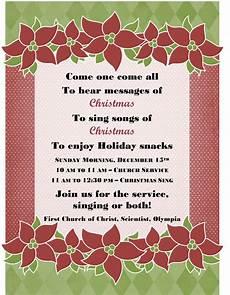 Christmas Carol Invitation Wording Christmas Carol Hymn Sing A Long Dec 15 First Church Of