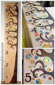 How To Make A Creative Chart Diy Wooden Tree Growth Chart
