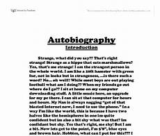 Autobiography Essay Example For College High School Student Essays College Homework Help And