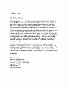 Recomandation Latter Letter Of Recommendation 2009