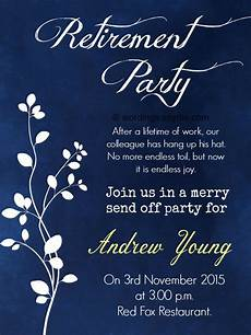 Retirement Invitations Online Retirement Party Invitation Wording Ideas And Samples