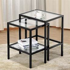yaheetech set of 2 nesting tables side end