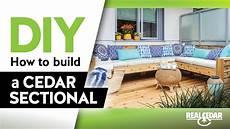 diy how to build an outdoor cedar sectional