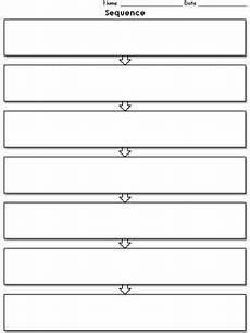 Flow Chart Graphic Organizer Printable Sequence Graphic Organizer Flow Chart 7 Full Page