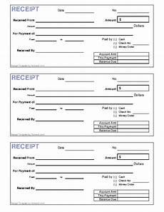 Generic Receipt Form Generic Receipt Template Pdfsimpli
