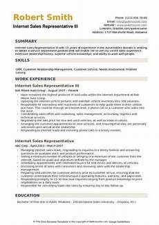 Internet Marketing Resumes Internet Sales Representative Resume Samples Qwikresume