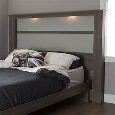 south shore gloria king headboard 78 quot with lights gray