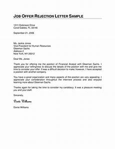 How To Reject Job Offer Job Offer Rejection Letter How To Write A Job Offer