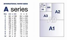 What Size Is A2 Card International Paper Size Chart A4 Standard 3 Paper