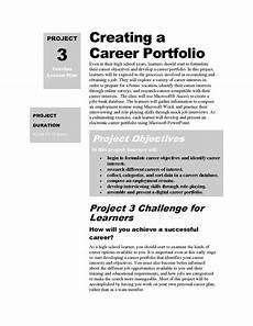 Samples Of Career Portfolios Career Portfolio Templates Creating A Career Portfolio