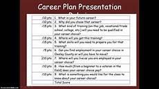 Career Plans Career Plan Presentation Youtube