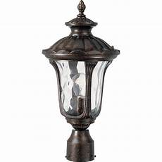 Intertek Lighting Home Depot Volume Lighting 1 Light Vintage Bronze Outdoor Post Light