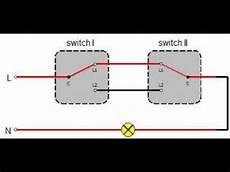 Two Switch Light Switch Two Way Switching Diagram Two Way Switch Youtube