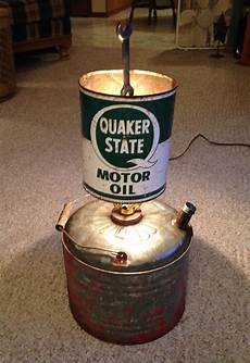 Oil Can Light Upcycled Gas Can And Oil Can Lamp With A Wrench Finial