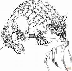 ankylosaurus cretaceous period dino coloring page free