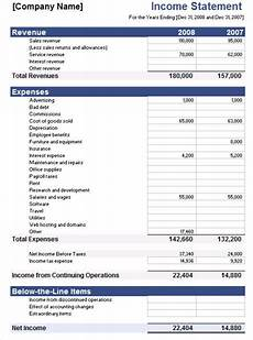 Income And Expenditure Statement Template Free Download 5 Free Income Statement Examples And Templates Templates