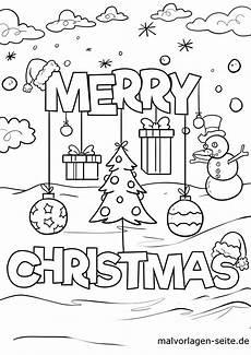 Malvorlagen Weihnachten Merry Malvorlage Merry Weihnachten Ausmalbilder