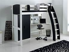 high sleeper bed with wardrobe desk and shelves