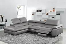 Gray Reclining Sectional Sofa 3d Image by Divani Casa Maine Modern Grey Eco Leather Sectional