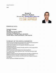 Cover Letter And Cv Ahmad Hashem Cv Amp Covering Letter 2012 12