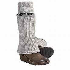sorel cable wedge rib knit sweater boots for