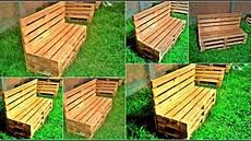 de madera banca de palets o banca de madera para jardin detalles de