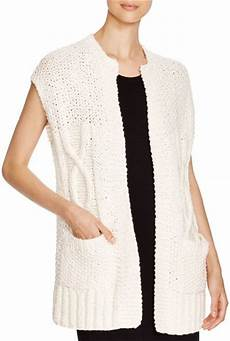 cap sleeve cardigans for eileen fisher cap sleeve cardigan in beige soft white lyst