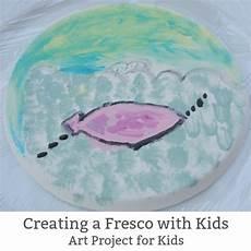 fresco children get arty creating a fresco with