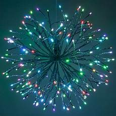Twinklers Lights Silver Starburst Lighted Branches With Multicolor Led