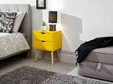 scandinavian style nyborg bedside cabinet with wooden legs