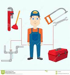 Klempner Werkzeug Setriemenspanner by Klempner Mit Werkzeug Vektor Abbildung Illustration