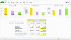 Mortgage Calculator Spreadsheet Excel 8 Cost Benefit Analysis Excel Template Excel Templates